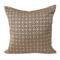 Home Accent Pillows Geometric Gold and Copper 20-inch x 20-inch Throw Pillow