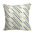 Home Accent Pillows White/Blue/Teal/Gold Stripe Polyester 20x20 Throw Pillow