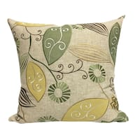 Olevia Cotton Floral Leaf Embroidered Throw Pillow by Home Accent Pillows