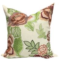 Embroidered Aletha Floral Leaf Cotton Pillow