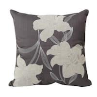 Home Accent Pillows Grey Floral Throw Pillow