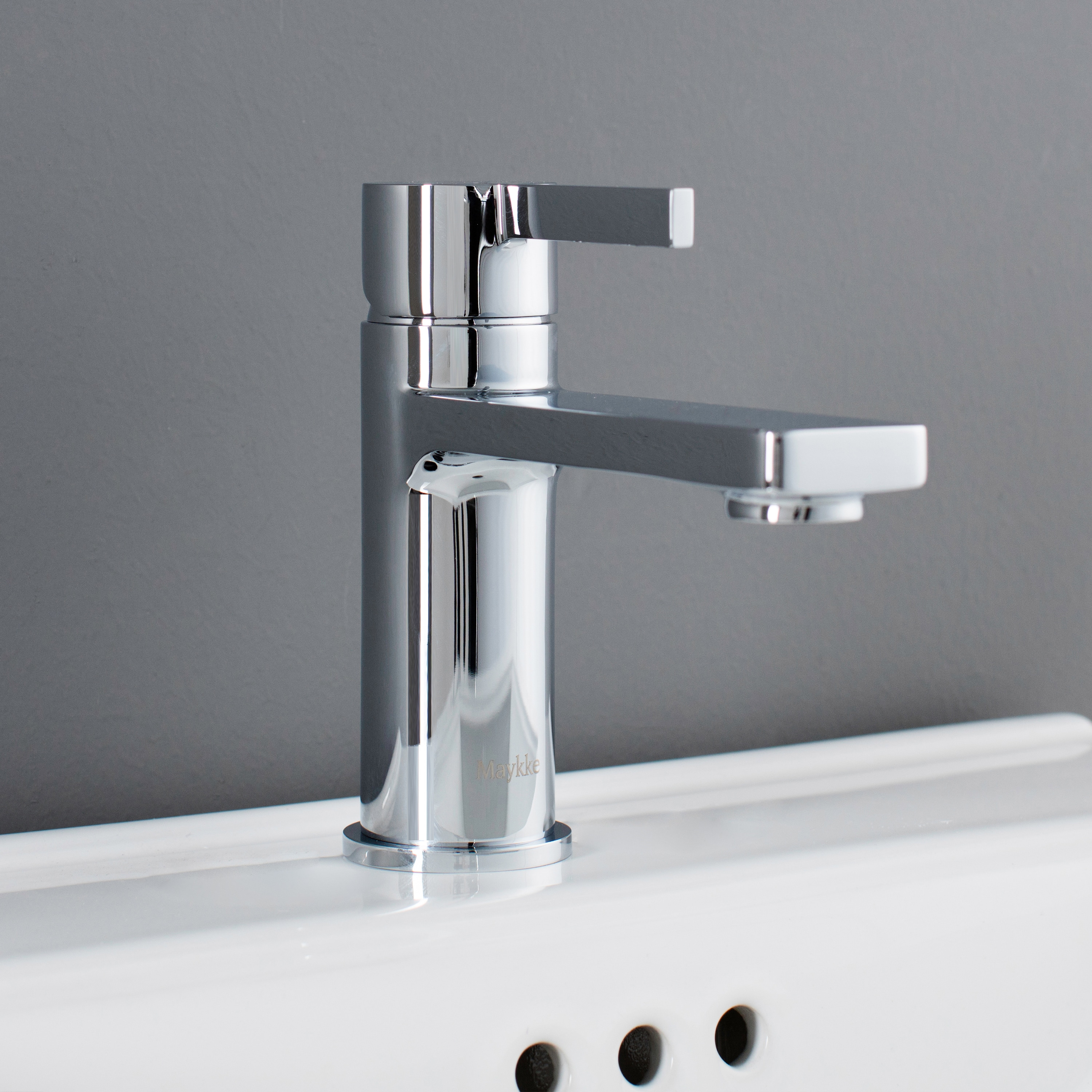 Maykke Friedrich Single Lever Faucet (Polished Chrome (Gr...