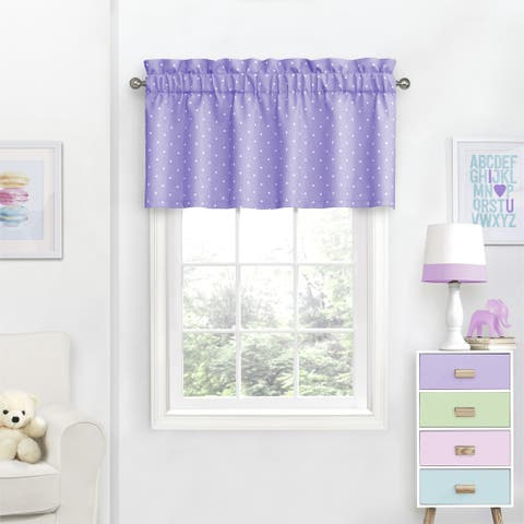 Eclipse Kids Dots Room-Darkening Curtain Valance - 42X18