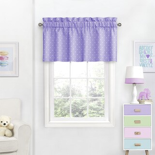 Eclipse Kids Dots Blackout Curtain Valance - 42X18