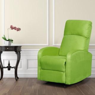 Artiva USA  Modern Home Slim Design Microfiber Lime Green Recliner