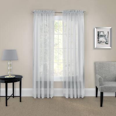 Pairs to Go Victoria Voile Curtain Panel Pair - 118x63