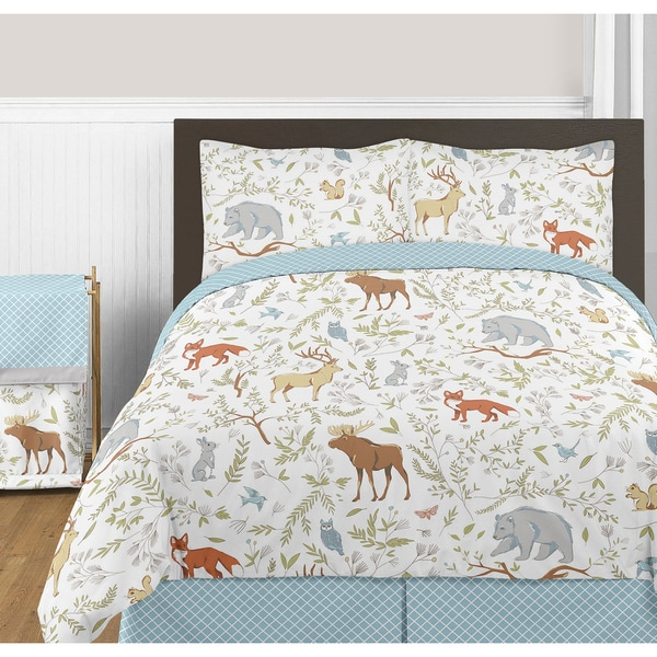Sweet Jojo Designs Woodland Toile Collection Full/Queen 3-piece Comforter Set