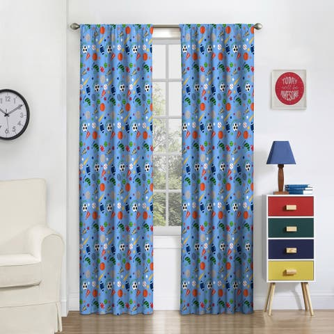 Eclipse Kids Field Day Blackout Window Curtain Panel