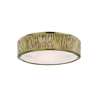 Hudson Valley Crispin Brass Large LED Flush Mount