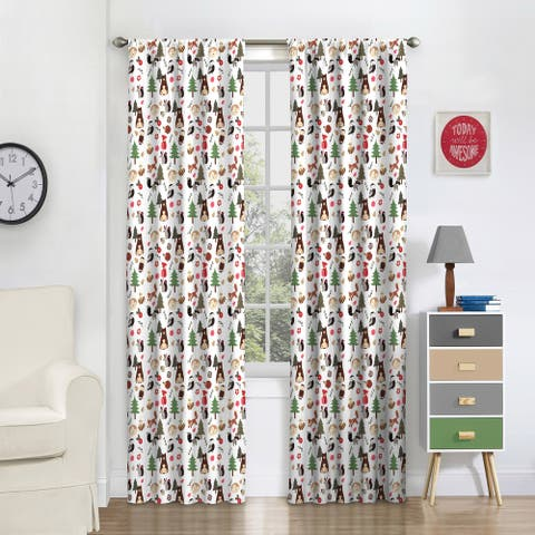 Eclipse Kids Forest Friends Blackout Window Curtain