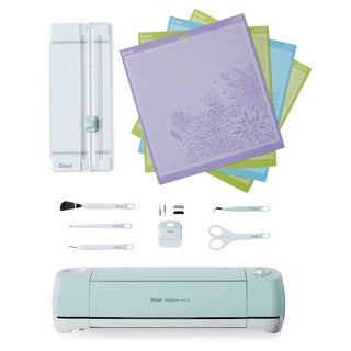 Cricut Explore AIR 2 Mint Electronic Die Cutting Machine Tools Bundle