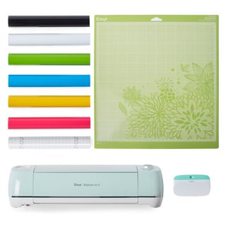 Cricut Explore AIR 2 Mint Electronic Die Cutting Machine Vinyl Bundle