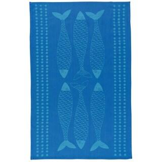 Fish Market Jacquard Kitchen Dishtowel by Now Designs