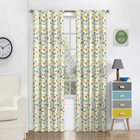 Eclipse Kids Jungle Party Blackout Window Curtain