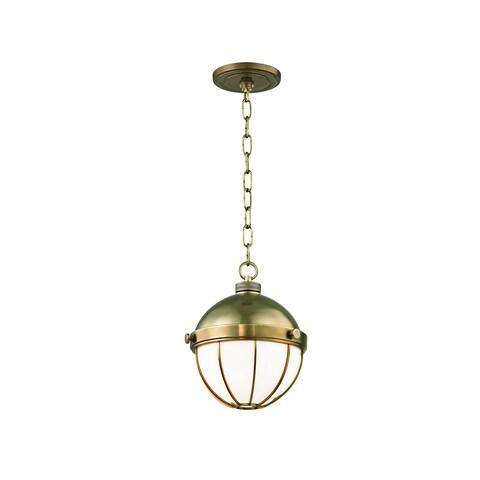 Hudson Valley Sumner 1-light 9-inch Aged Brass Pendant