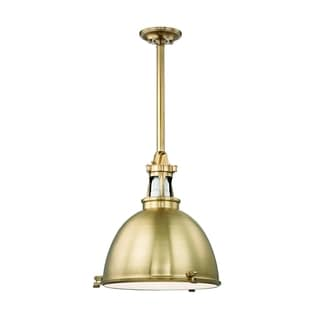 Hudson Valley Massena 1-light 20-inch Aged Brass Pendant