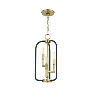 Hudson Valley Angler 3-light Aged Brass Chandelier