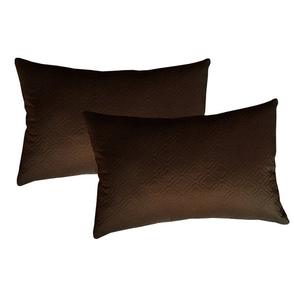 Sonic Quilted Florentine Microfiber Throw Pillow (Set of 2)