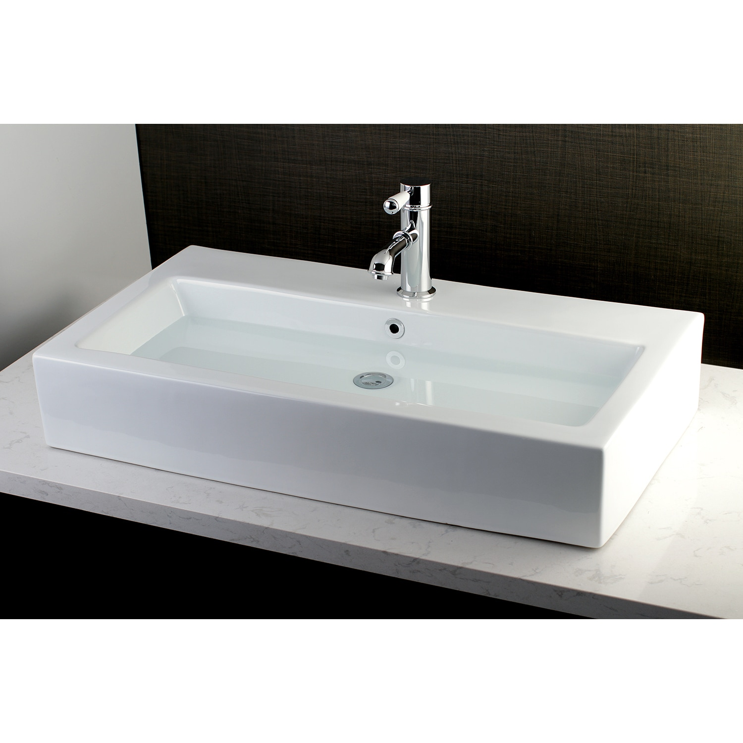 Contemporary Large 32 Inch Elongated Vessel Bathroom Sink On Sale Overstock 14663112