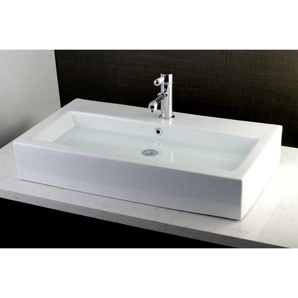 Shop Contemporary Large 32-inch Elongated Vessel Bathroom ...