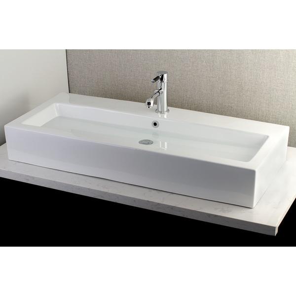 Shop Contemporary Large 39 Inch Elongated Vessel Bathroom