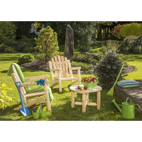 Bestar White Cedar 2 Chairs and Coffee Table Set