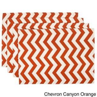 Indoor/Outdoor Contemporary Pattern Placemats (Set of 4) (Option: Canyon orange)