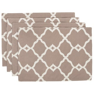 Indoor/Outdoor Contemporary Pattern Placemats (Set of 4)