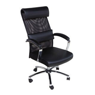 OneSpace 60-5901 Black High-back Multipurpose Lumbar Support Executive Mesh Chair