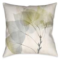 Laural Home Smoky Eucalyptus Fronds II Decorative Throw Pillow
