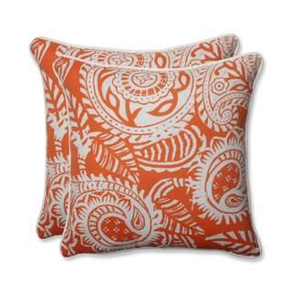 Pillow Perfect Outdoor/ Indoor Addie Terra Cotta 18.5-inch Throw Pillow (Set of 2)