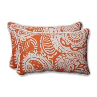 Pillow Perfect Outdoor/ Indoor Addie Terra Cotta Rectangular Throw Pillow (Set of 2)