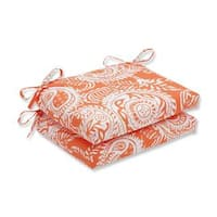 Pillow Perfect Outdoor/ Indoor Addie Terra Cotta Squared Corners Seat Cushion (Set of 2)