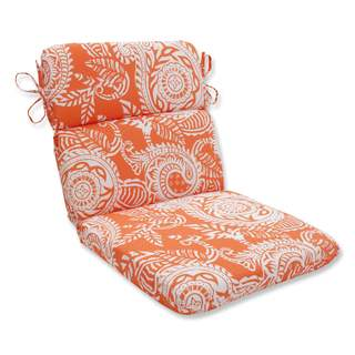 Pillow Perfect Outdoor/ Indoor Addie Terra Cotta Rounded Corners Chair Cushion