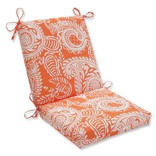 Pillow Perfect Outdoor/ Indoor Addie Terra Cotta Squared Corners Chair Cushion