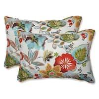 Pillow Perfect Outdoor/ Indoor Alatriste Ivory Rectangular Throw Pillow (Set of 2)