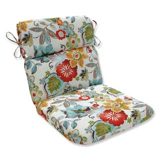 Pillow Perfect Outdoor/ Indoor Alatriste Ivory Rounded Corners Chair Cushion