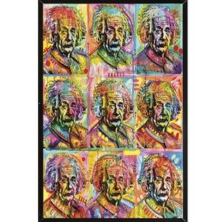 Dean Russo 'Einstein' Black Wood-mount Plaque 24-inch x 30-inch Poster