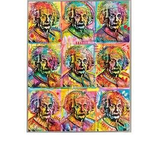 Dean Russo 'Einstein' 24-inch x 30-inch Poster With Silvertone Metal Frame