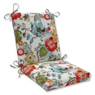Pillow Perfect Outdoor/Indoor Alatriste Ivory Squared Corners Chair Cushion