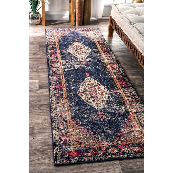Shop Nuloom Traditional Fading Oriental Medallion Navy