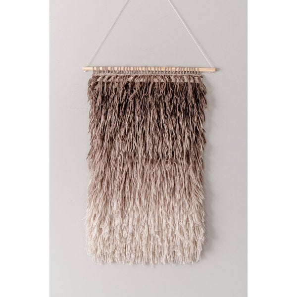 The Curated Nomad Caesar Handmade Modern Ombre Shag Wall Hanging