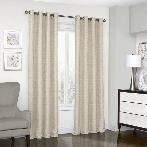 Eclipse Trevi Blackout Grommet Window Curtain Panel