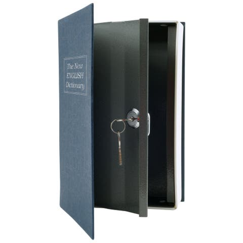 Stalwart Diversion Dictionary Book Safe w/ Key Lock, Metal - 6 x 9 in