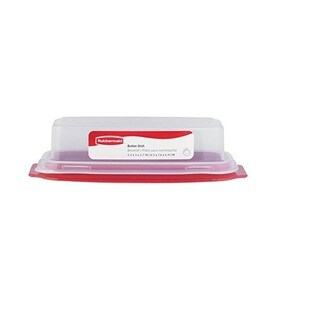 Rubbermaid Standard Red and Clear Butter Dish