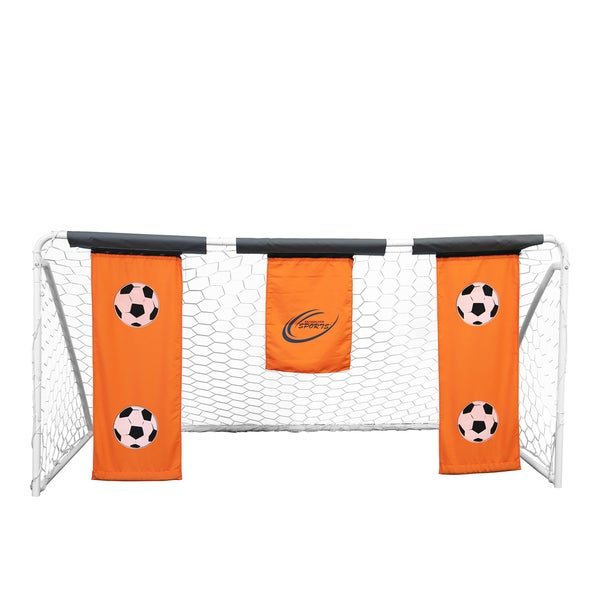 Skywalker Sports 9'x5' Soccer Goal with Practice Banners - Orange