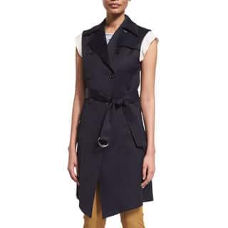 Veronica Beard Socal Navy Trench Vest|https://ak1.ostkcdn.com/images/products/14663794/P21200179.jpg?impolicy=medium