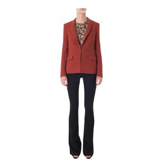 Veronica Beard Peninsula Peak Rust Blazer