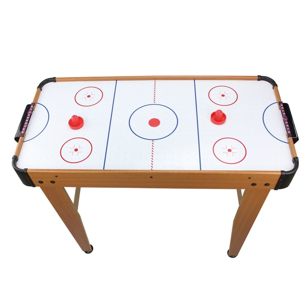 Brown Wood 36-inch Electric Air Hockey Table