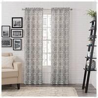 Carbon Loft Gutenberg Window Curtain Panel Pair